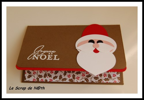 tuto de la pochette pere noel le scrap de n th. Black Bedroom Furniture Sets. Home Design Ideas