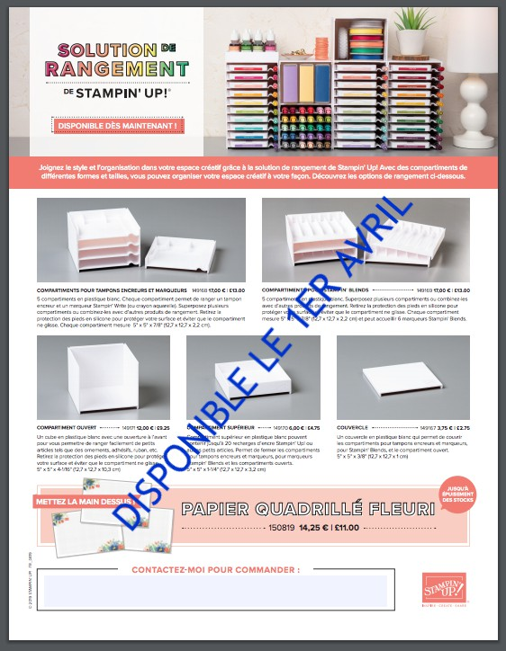 solution de rangement stampin up
