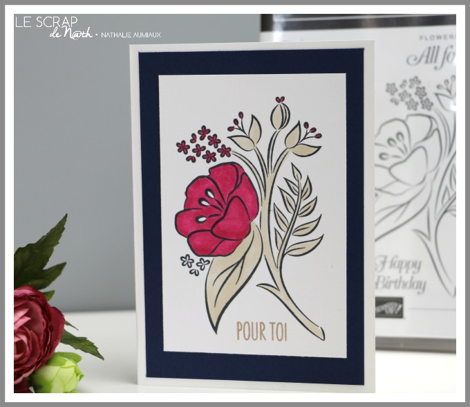 carte POUR TOI avec le set All that you are Stampin'Up