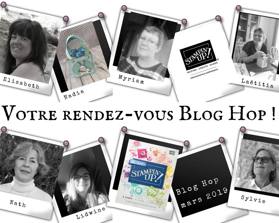 Photo de groupe les participantes au blog hop de mars
